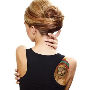 Hipster Watercolor Lion Temporary Tattoo - 6220 - IdeaStage ...