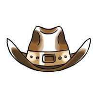 Cowboy Hat Temporary Tattoo