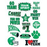 Go Team Green Set of Sports Temporary Tattoo