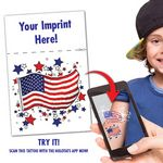 Custom US Flag Augmented Reality Tattoo With Header