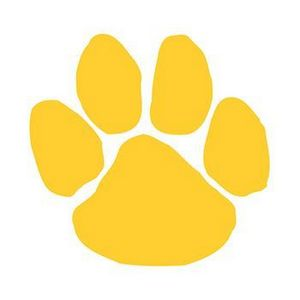 Yellow Mascot Paw Print Temporary Tattoo - 2720 - IdeaStage ...