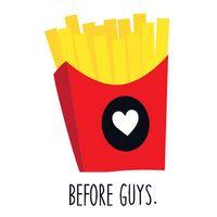 Fries Before Guys Temporary Tattoo