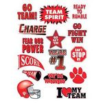 Go Team Red Set of Sports Temporary Tattoo