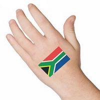 South Africa Flag Temporary Tattoo