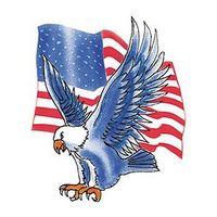 Blue Eagle with Flag Temporary Tattoo