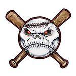 Baseball and Bats Temporary Tattoo