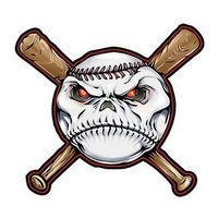 Baseball and Bats Temporary Tattoo
