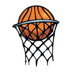 Basketball in Hoop Temporary Tattoo