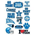 Go Team Blue Set of Sports Temporary Tattoo