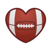 Football Heart Temporary Tattoo