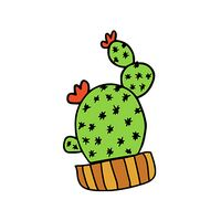 Cactus in Wooden Pot Temporary Tattoo