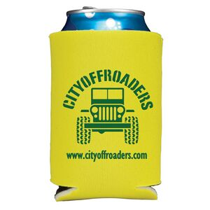 Folding Foam Can Cooler - 2 Side Screen Print