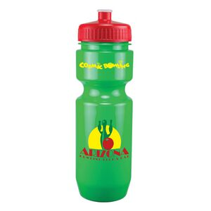 22 Oz. Bike Bottle w/ Push Pull Lid - Solid Colors