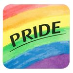 Custom Full Color Process 60 Point Pride Pulp Board Coaster