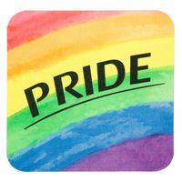 Full Color Process 60 Point Pride Pulp Board Coaster