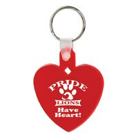 Soft Squeezable Key Tag (Heart)