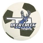 Custom Full Color Process 40 Point Soccer Ball Pulp Board Coaster