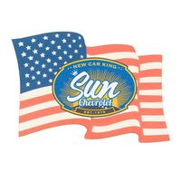 Full Color Process 40 Point Flag Pulp Board Coaster