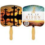 Custom Religious Hand Fan/ Crosses at Sunset