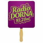 Custom Square Sandwiched Hand Fan (2 Side/ 1 imprint color)