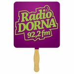 Custom Square Glued Hand Fan (1 Side/ 1 Color imprint)