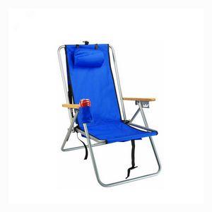 Custom Extended Height 4 Position Folding Beach Chair