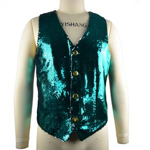 Custom Sequined Shirt Vest