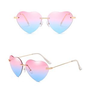 Vintage Aviator Style Heart -shaped Fashion Sunglasses