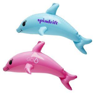 Custom Printed Inflatable Dolphin Animal Toys