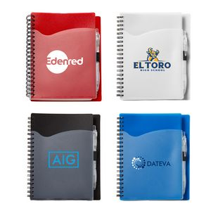 5 x 7 Wave Spiral Notebook with Front Pocket