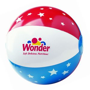 Custom Printed Inflatable Patriotic Beach Balls