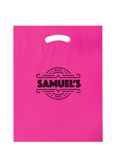 Die Cut Fold-Over Reinforced Plastic Bag (12