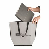 "LIGHTNING - Washable Kraft Paper Oversize Tote Bag w/ Contoured Bottom (20""x9""x16"") - SP"
