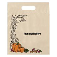 "Halloween Stock Design Ivory Die Cut Bag • Autumn Harvest (12""x15""x3"") - Flexo Ink"