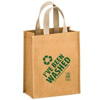 "CYCLONE - Washable Kraft Paper Tote Bag w/ Web Handle (8""x4""x10"") - SP"