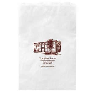 "White Kraft Paper Merchandise Bag (16""x3 1/2""x24"") - Flexo Ink"