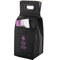 "Insulated Wine Tote Bag - 4 Bottle Non-Woven Tote (7.5""x7""x19.5"") - Screen Print"