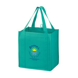 Heavy Duty Non-Woven Grocery Tote Bag w/Insert (12x8x13) - Screen Print