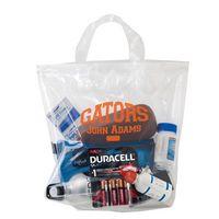 "Crystal Clear Stadium Security Fused Soft Loop Handle Bag (12""x12""x6"") - Flexo Ink"