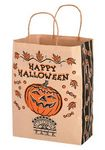 Custom Halloween Stock Design Natural Kraft Shopper Bag