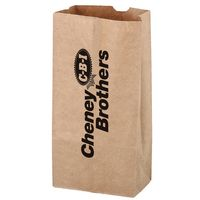 Natural Kraft Paper Popcorn Bag (Size 4 Lb.) - Flexo Ink