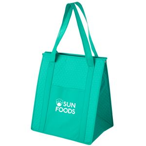 Insulated Non-Woven Grocery Tote Bag w/ Insert (13x10x15) - Screen Print