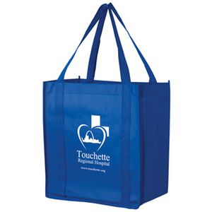 Recession Buster Non-Woven Grocery Tote Bag w/Insert (12x8x13) - Screen Print