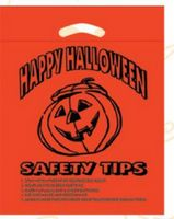 Halloween Stock Design Orange Die Cut Bag