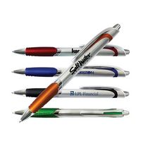 Silver Crest Grip Pen (Spot Color)