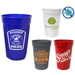 17 Oz. Antimicrobial Stadium Cup (Spot Color)