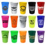 Custom 17 Oz. Smooth Stadium Cup (Spot Color)