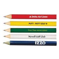 Round Golf Pencil (No Eraser)