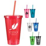 Custom 16 Oz. Victory Acrylic Tumbler (Spot Color)