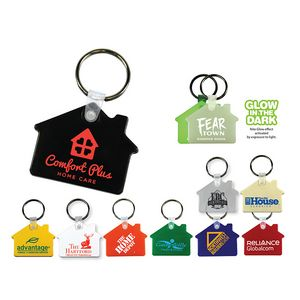 Custom Printed House Shaped Key Tags